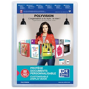 Image of Elba Polyvision Display Book / 40 Clear Pockets / A4