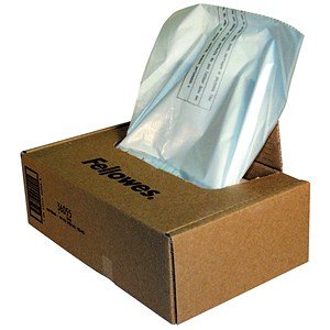 Image of Fellowes Shredder Bags Capacity 165 Litre [for C-380 C-480 Series] Ref 36055 [Pack 50]
