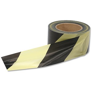 Image of 5 Star Office Barrier Tape in Dispenser Box 72mmx500m Yellow and Black
