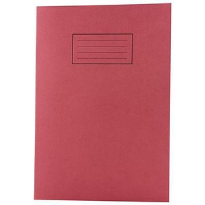 Image of Silvine Ruled Exercise Book / A4 / With Margin / 80 Pages / Red / Pack of 10