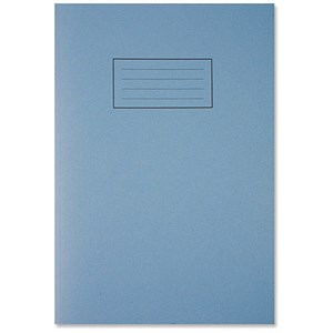 Image of Silvine Ruled Exercise Book / A4 / With Margin / 80 Pages / Blue / Pack of 10