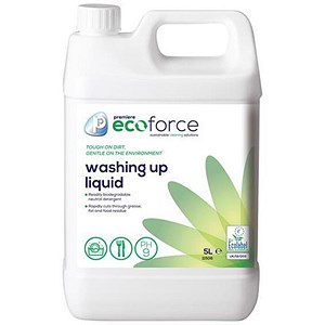 Image of Ecoforce Washing Up Liquid / 5 Litres / Pack of 2
