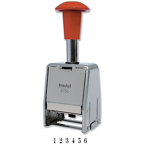 Image of Trodat 5756/M Metal Self-inking Sequential Numberer Stamp - 8 Adjustments