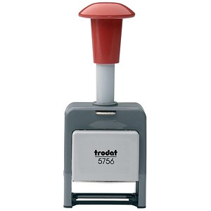 Image of Trodat 5756/P Plastic Self-inking Sequential Numberer Stamp - 8 Adjustments