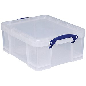 Image of Really Useful Storage Box / Clear Plastic / 18 Litre