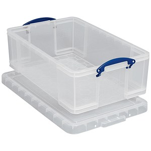 Image of Really Useful Storage Box / Clear Plastic / 50 Litre
