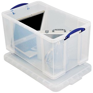 Image of Extra Large (84 Litre) Really Useful Storage Box - Clear Strong Plastic
