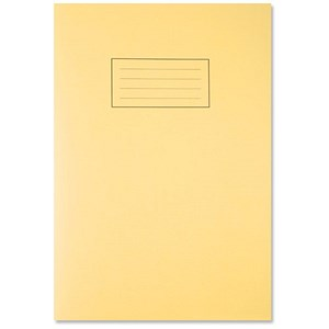 Image of Silvine Ruled Exercise Book / A4 / With Margin / 80 Pages / Yellow / Pack of 10