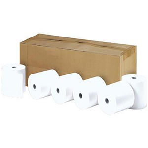 Image of Thermal Printer Rolls / Width 57mm x Diam 30mm x Core 12.7mm / 1-Ply / Pack of 50
