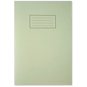 Image of Silvine Ruled Exercise Book / A4 / With Margin / 80 Pages / Green / Pack of 10