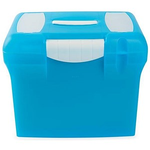 Image of A4 Plastic File Box - Light Blue