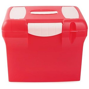 Image of A4 Plastic File Box - Pink