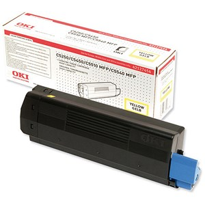 Image of Oki C5450 High Capacity Yellow Laser Toner Cartridge