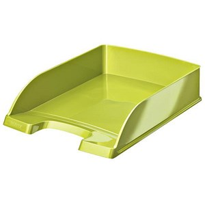 Image of Leitz Bright Stackable Letter Tray - Glossy Metallic Green
