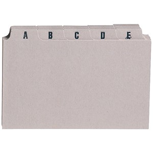 Image of 5 Star Guide Cards / A-Z / 152x102mm / Buff / Pack of 25