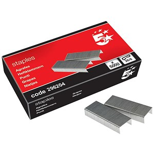 Image of 5 Star No. 56 Staples (26/6mm) - Box of 5000