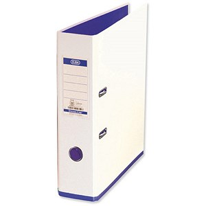 Image of Elba MyColour A4 Lever Arch File / Plastic / 80mm Spine / White & Purple