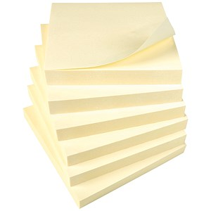 Image of 5 Star Sticky Notes / 76x76mm / Yellow / Pack of 12 x 100 Notes