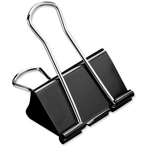 Image of 5 Star Foldback Clips - 32mm / Black / Pack of 12
