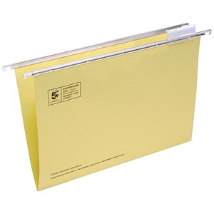 Image of 5 Star Heavyweight Manila Suspension Files / V Base / 15mm Capacity / Foolscap / Yellow / Pack of 50