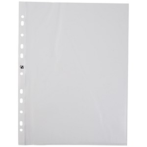 Image of 5 Star A4 Plastic Pockets / Top-opening / 40 Micron / Pack of 100