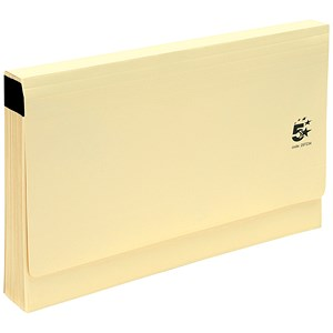 Image of 5 Star De Luxe Expanding File with Flap / 19 Pockets / A-Z / Foolscap / Buff