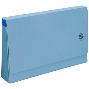 Image of 5 Star De Luxe Expanding File with Flap / 16 Pockets / A-Z, 12 Months, 1-31 / Foolscap / Blue