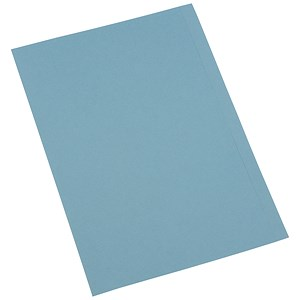 Image of 5 Star Square Cut Folder / Recycled / Pre-punched / 250gsm / Foolscap / Blue / Pack of 100