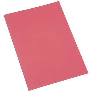 Image of 5 Star Square Cut Folder Recycled Pre-punched 250gsm Foolscap Red [Pack 100]