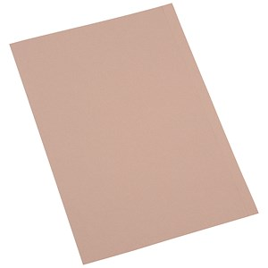 Image of 5 Star Square Cut Folder Recycled Pre-punched 170gsm Kraft Foolscap Buff [Pack 100]