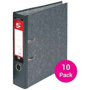 Image of 5 Star Foolscap Lever Arch Files / 70mm Spine / Cloudy Grey / Pack of 10