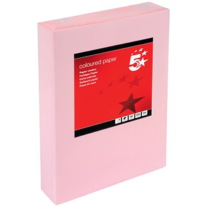Image of 5 Star A4 Multifunctional Coloured Paper / Light Pink / 80gsm / Ream (500 Sheets)