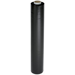 Image of Stretch Wrap / 17 Micron / W500mm x L250m / Black / Pack of 6