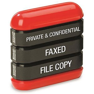 "Image of Trodat 3-in-1 Stamp Stack Secretary - ""Private & Confidential"", ""Faxed"" & ""File"""