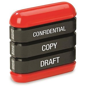 "Image of Trodat 3-in-1 Stamp Stack Professional - ""Confidential"", ""Copy"" & ""Draft"""