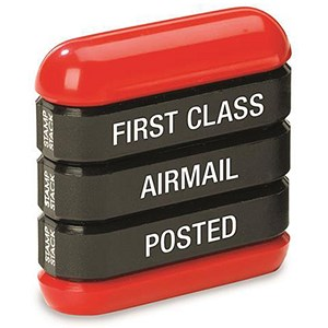 "Image of Trodat 3-in-1 Stamp Stack Mail - ""First Class"", ""Airmail"" & ""Posted"""