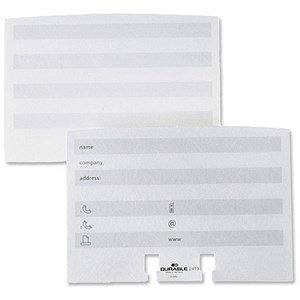 Image of Durable Visifix Refill Cards / White / Pack of 100