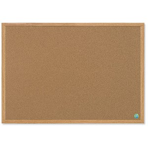 Image of Bi-Office Earth-it Notice Board / Cork / MDF Frame / W1200xH900mm