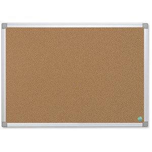 Image of Bi-Office Earth-it Notice Board / Cork / Aluminium Frame / W1200xH900mm