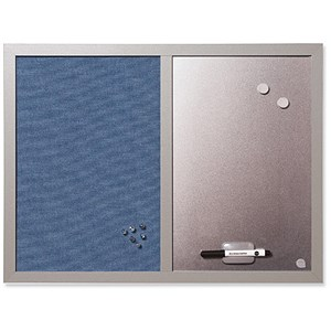 Image of BiSilque Combination Notice & Magnetic Board / W600xH450mm / Bluebell