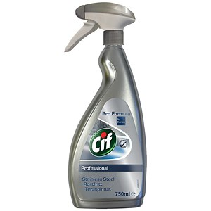 Image of Cif Professional Stainless Steel & Glass Cleaner - 750ml