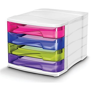 Image of Multicolour 4 Drawer Organiser - Made from Recycled Material