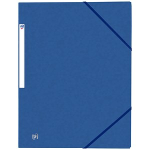 Image of Elba Eurofolio Folder Elasticated 3-Flap 450gsm A4 Blue Ref 100200978 [Pack 10]
