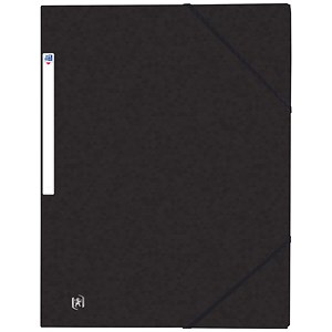 Image of Elba Eurofolio Elasticated Folders / 3-Flap / Foolscap / Black / Pack of 10