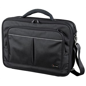 Image of Lightpak Executive Padded Laptop Bag / Multi-section / 17 inch Capacity / Nylon / Black