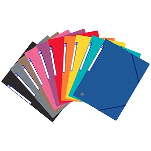 Image of Elba Eurofolio Folder Elasticated 3-Flap 450gsm A4 Assorted Ref 100200976 [Pack 10]