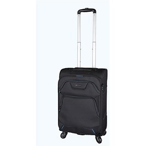 Image of Lightpak Executive Overnight Trolley with Detachable Laptop Case / 17 inch Nylon / Black