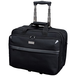 Image of Lightpak Business Trolley Bag with Laptop Compartment / 17 inch Capacity / Nylon / Black