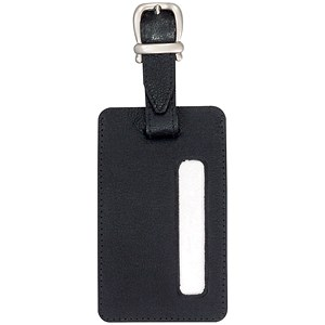 Image of Alassio Luggage Tag / 115x70mm / Leather-look / Black