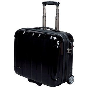 Image of JSA Business Trolley with Removable Laptop Case / ABS Polycarbonate / Black